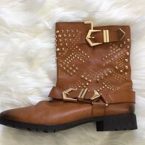 Zara studded boots- made in Spain